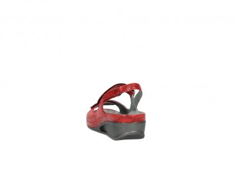 wolky sandalen 0425 shallow 650 rood kaviaarprint leer_6