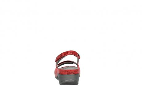wolky sandalen 0425 shallow 650 rood kaviaarprint leer_7