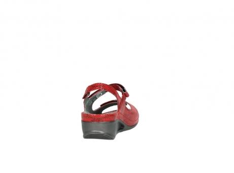 wolky sandalen 0425 shallow 650 rood kaviaarprint leer_8