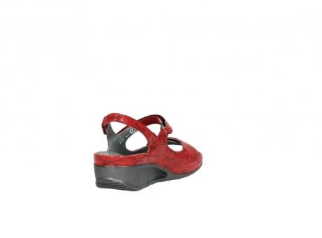 wolky sandalen 0425 shallow 650 rood kaviaarprint leer_9