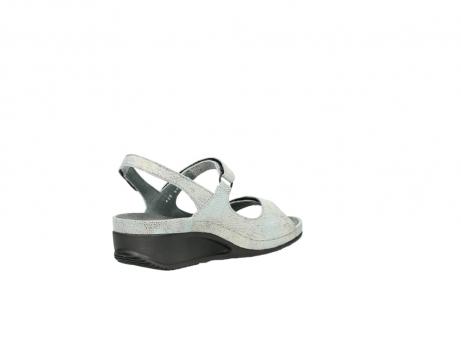 wolky sandalen 0425 shallow 679 mintgroen kaviaarprint leer_10