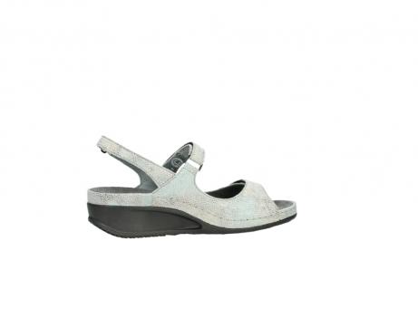 wolky sandalen 0425 shallow 679 mintgroen kaviaarprint leer_12