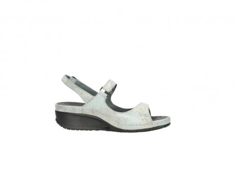 wolky sandalen 0425 shallow 679 mintgroen kaviaarprint leer_14