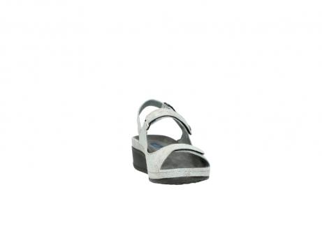 wolky sandalen 0425 shallow 679 mintgroen kaviaarprint leer_18