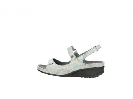 wolky sandalen 0425 shallow 679 mintgroen kaviaarprint leer_2