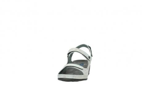 wolky sandalen 0425 shallow 679 mintgroen kaviaarprint leer_20