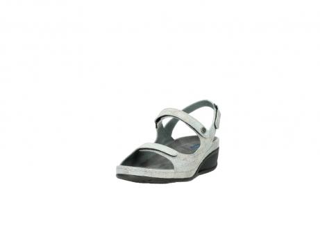 wolky sandalen 0425 shallow 679 mintgroen kaviaarprint leer_21