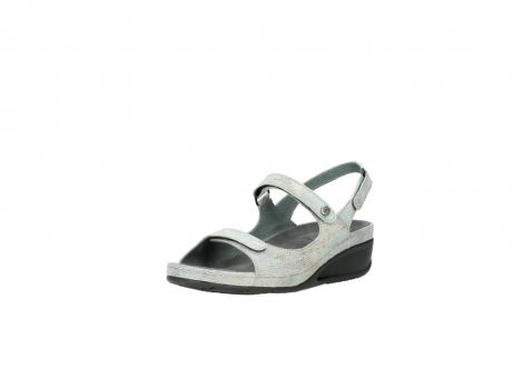 wolky sandalen 0425 shallow 679 mintgroen kaviaarprint leer_22