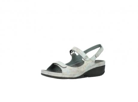 wolky sandalen 0425 shallow 679 mintgroen kaviaarprint leer_23