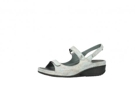 wolky sandalen 0425 shallow 679 mintgroen kaviaarprint leer_24