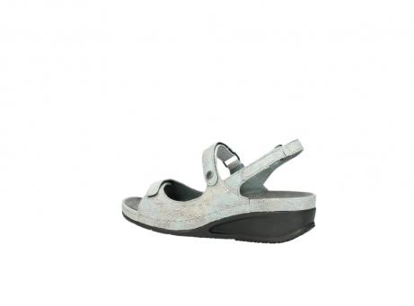 wolky sandalen 0425 shallow 679 mintgroen kaviaarprint leer_3