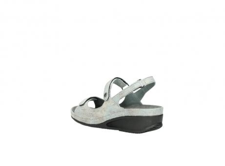 wolky sandalen 0425 shallow 679 mintgroen kaviaarprint leer_4