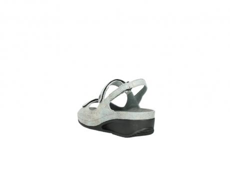wolky sandalen 0425 shallow 679 mintgroen kaviaarprint leer_5