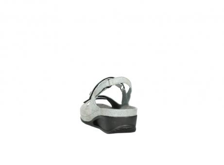 wolky sandalen 0425 shallow 679 mintgroen kaviaarprint leer_6
