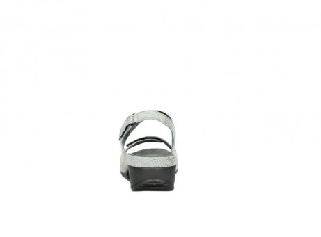 wolky sandalen 0425 shallow 679 mintgroen kaviaarprint leer_7