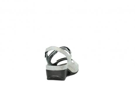 wolky sandalen 0425 shallow 679 mintgroen kaviaarprint leer_8