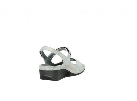 wolky sandalen 0425 shallow 679 mintgroen kaviaarprint leer_9