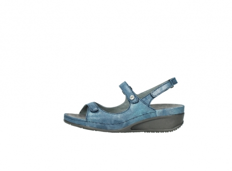 wolky sandalen 0425 shallow 681 ozean kaviarprint leder_1