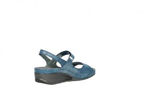 wolky sandalen 0425 shallow 681 ozean kaviarprint leder_10
