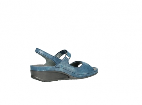 wolky sandalen 0425 shallow 681 ozean kaviarprint leder_11