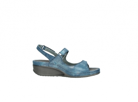 wolky sandalen 0425 shallow 681 ozean kaviarprint leder_14