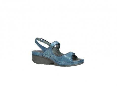 wolky sandalen 0425 shallow 681 ozean kaviarprint leder_15