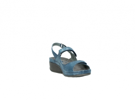 wolky sandalen 0425 shallow 681 ozean kaviarprint leder_17