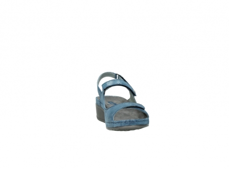 wolky sandalen 0425 shallow 681 ozean kaviarprint leder_18