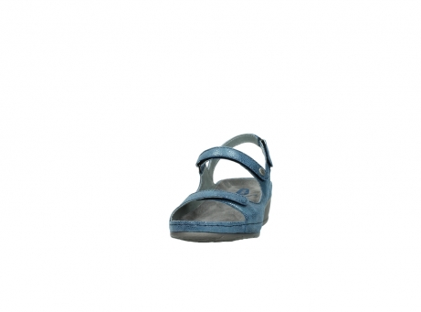 wolky sandalen 0425 shallow 681 ozean kaviarprint leder_20