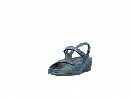 wolky sandalen 0425 shallow 681 ozean kaviarprint leder_21