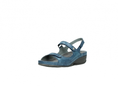 wolky sandalen 0425 shallow 681 ozean kaviarprint leder_22