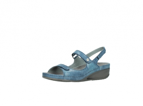 wolky sandalen 0425 shallow 681 ozean kaviarprint leder_23