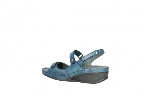 wolky sandalen 0425 shallow 681 ozean kaviarprint leder_3