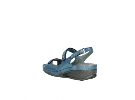 wolky sandalen 0425 shallow 681 ozean kaviarprint leder_4