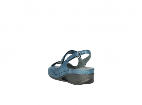 wolky sandalen 0425 shallow 681 ozean kaviarprint leder_5