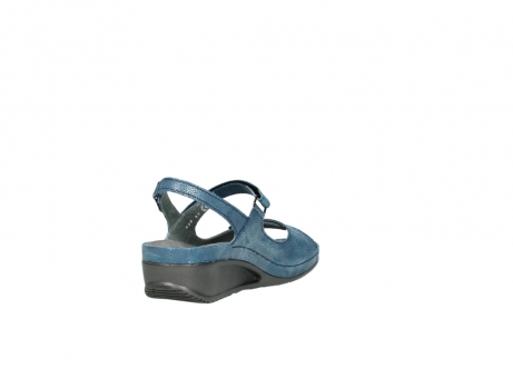 wolky sandalen 0425 shallow 681 ozean kaviarprint leder_9