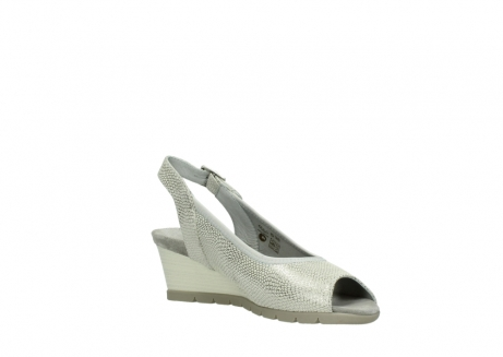 wolky sandalen 04666 collins 20120 off white silver printed leather_16