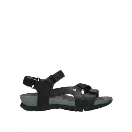 wolky sandalen 05450 cradle 50000 black greased leather