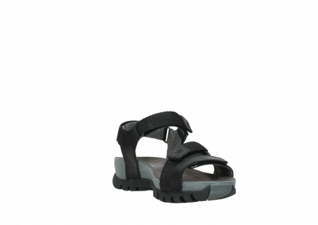 wolky sandalen 05450 cradle 50000 black greased leather_17