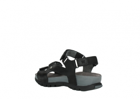 wolky sandalen 05450 cradle 50000 black greased leather_4
