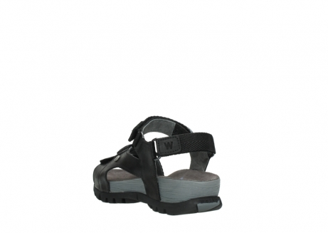 wolky sandalen 05450 cradle 50000 black greased leather_5