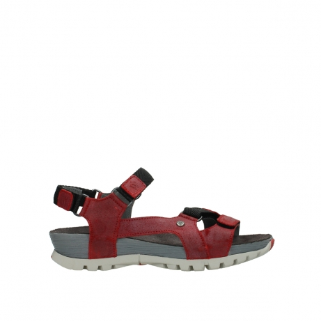 wolky sandalen 05450 cradle 50500 red greased leather