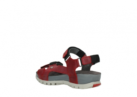 wolky sandalen 05450 cradle 50500 red greased leather_4