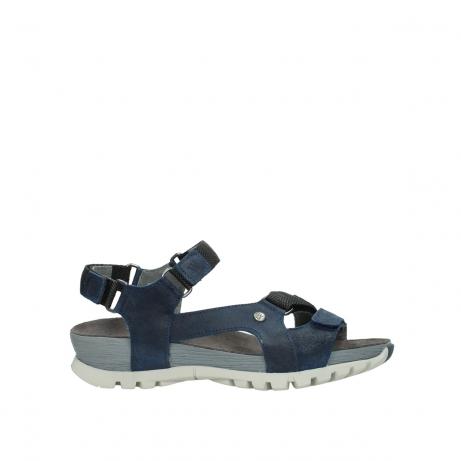 wolky sandalen 05450 cradle 50820 denim gevet leer