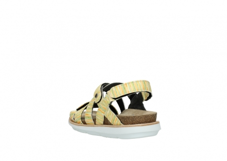 wolky sandalen 08480 sunstone 94907 yellow green leather_5