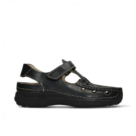 wolky heren sandalen 09209 roll sandal men 50000 black leather
