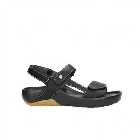 wolky sandalen 1126 bullet 200 zwart leer