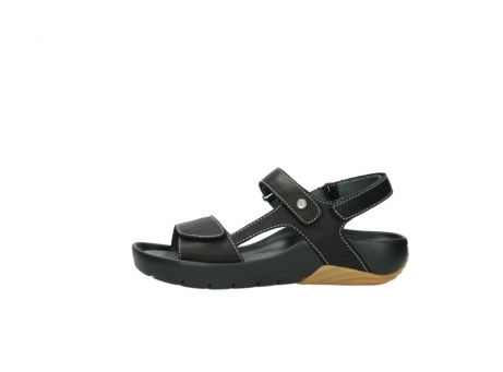 wolky sandalen 1126 bullet 200 zwart leer_1