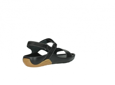 wolky sandalen 1126 bullet 200 zwart leer_10
