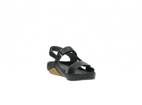 wolky sandalen 1126 bullet 200 zwart leer_17